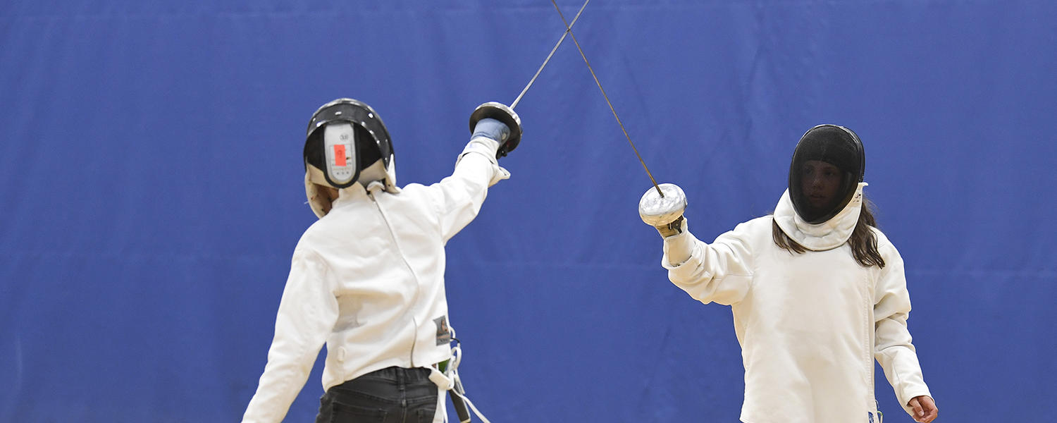 Girls in Fencing class at University of Calgary