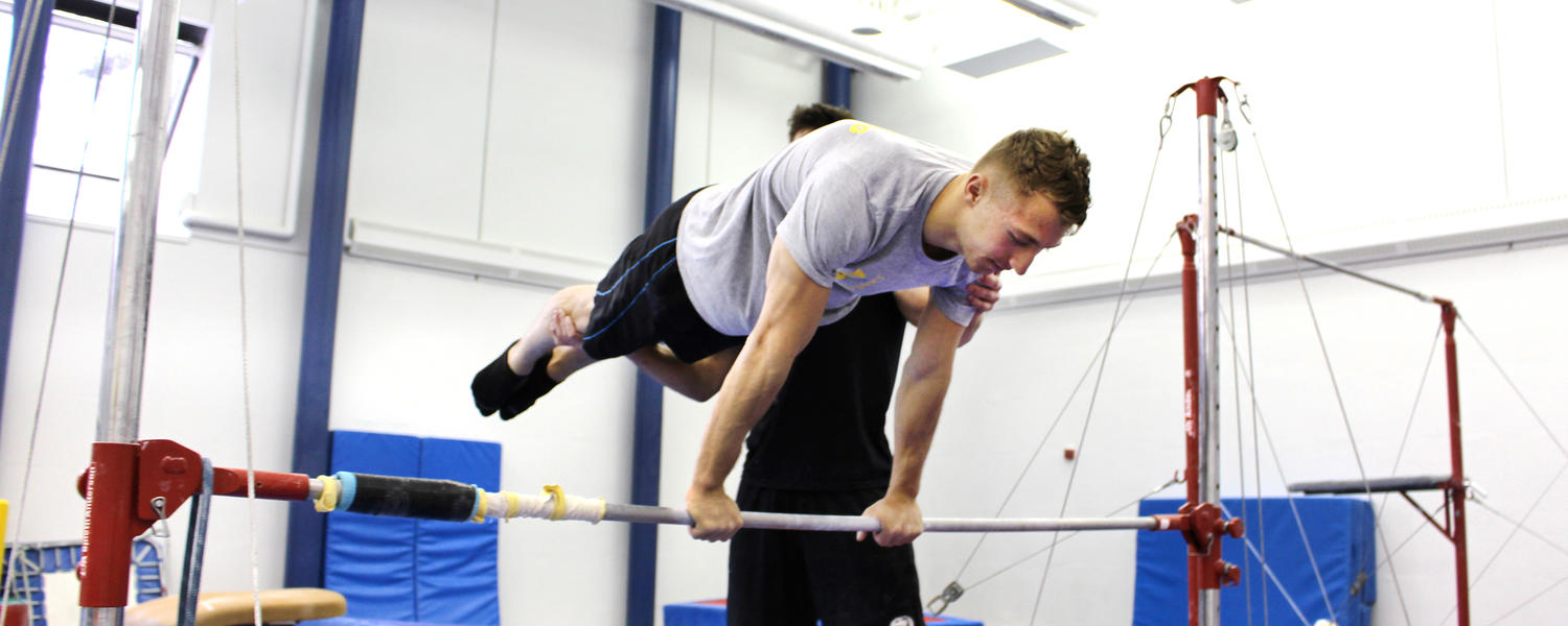 Gymnastics lesson at the University of Calgary