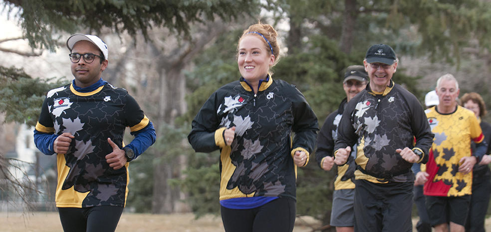 UCalgary Marathon club during a run