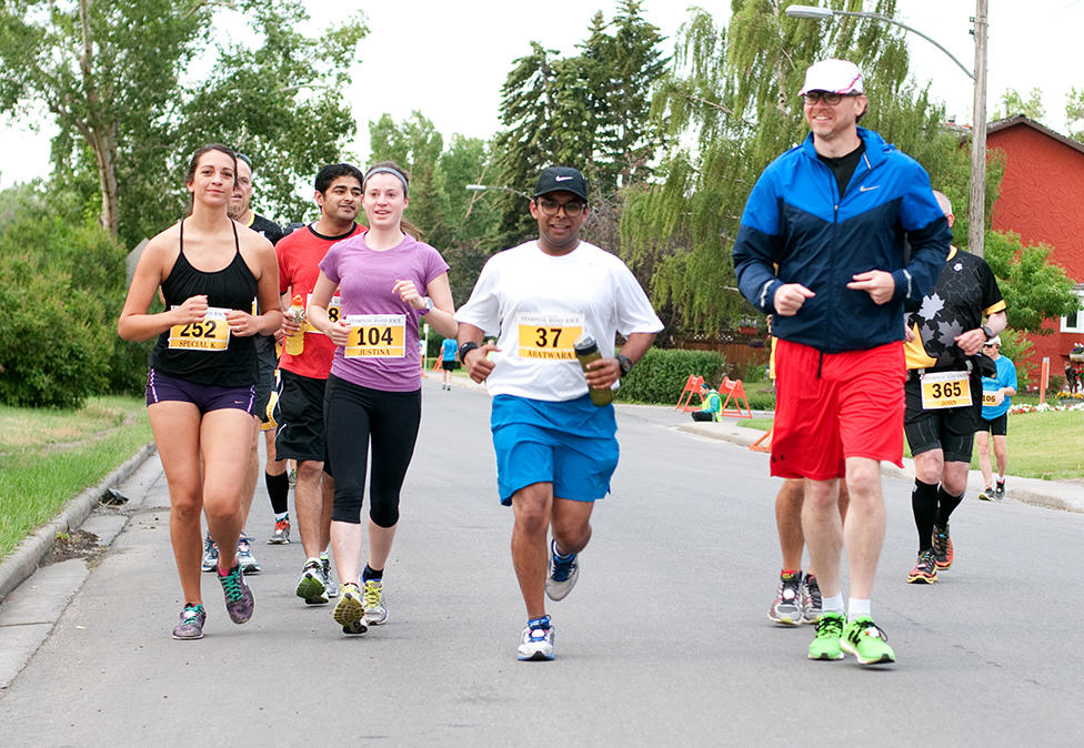 UCalgary Marathon participants during the Stampede half marathon 2017