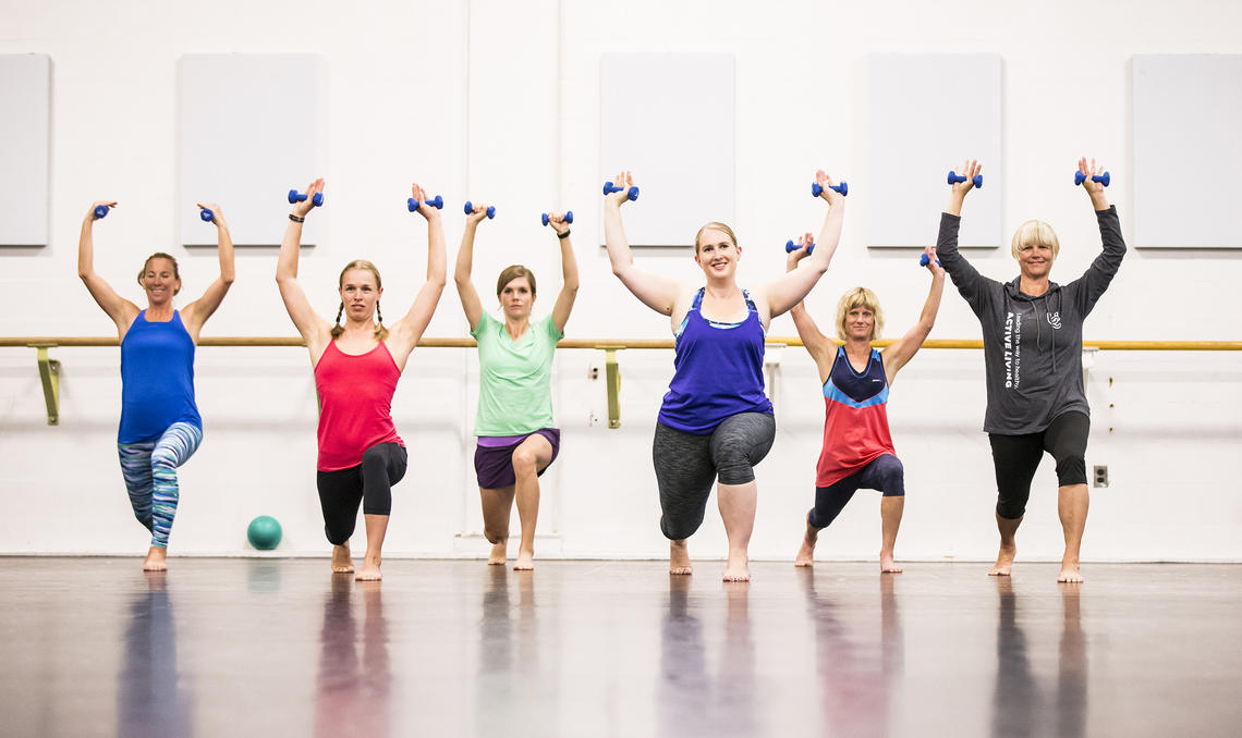 Active Living fitness class with weights