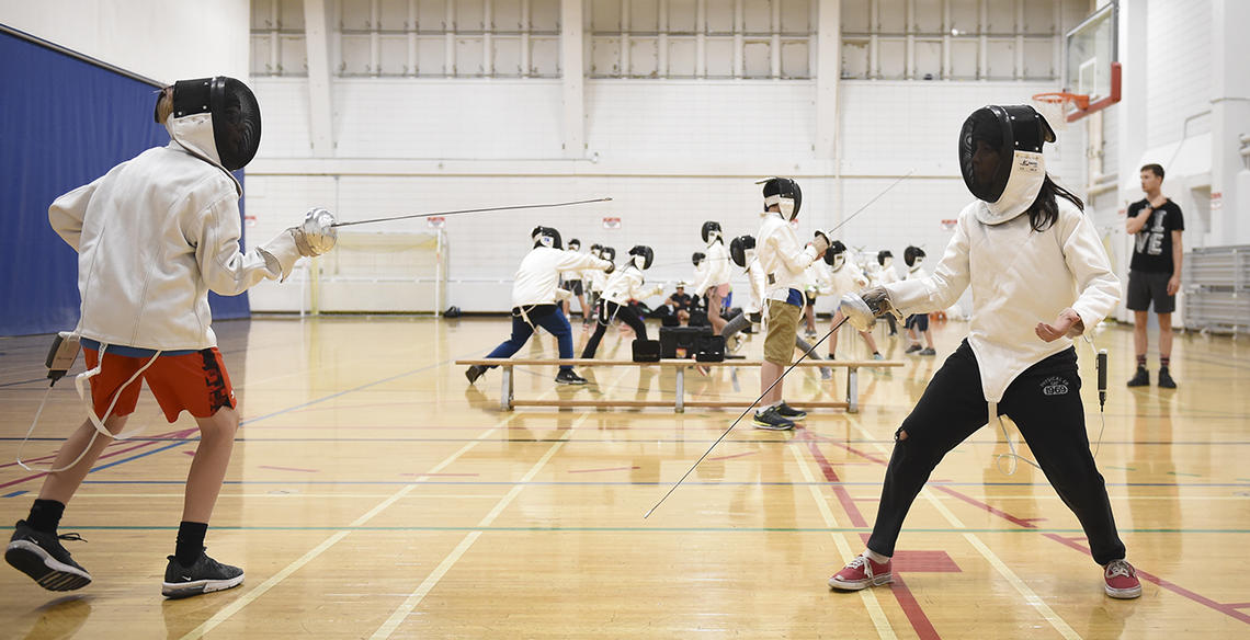 Fencing class at UCalgary