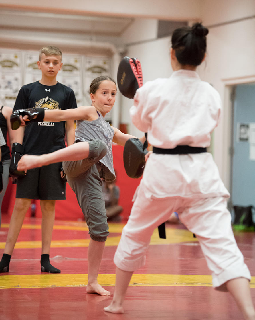 Karate class at UCalgary