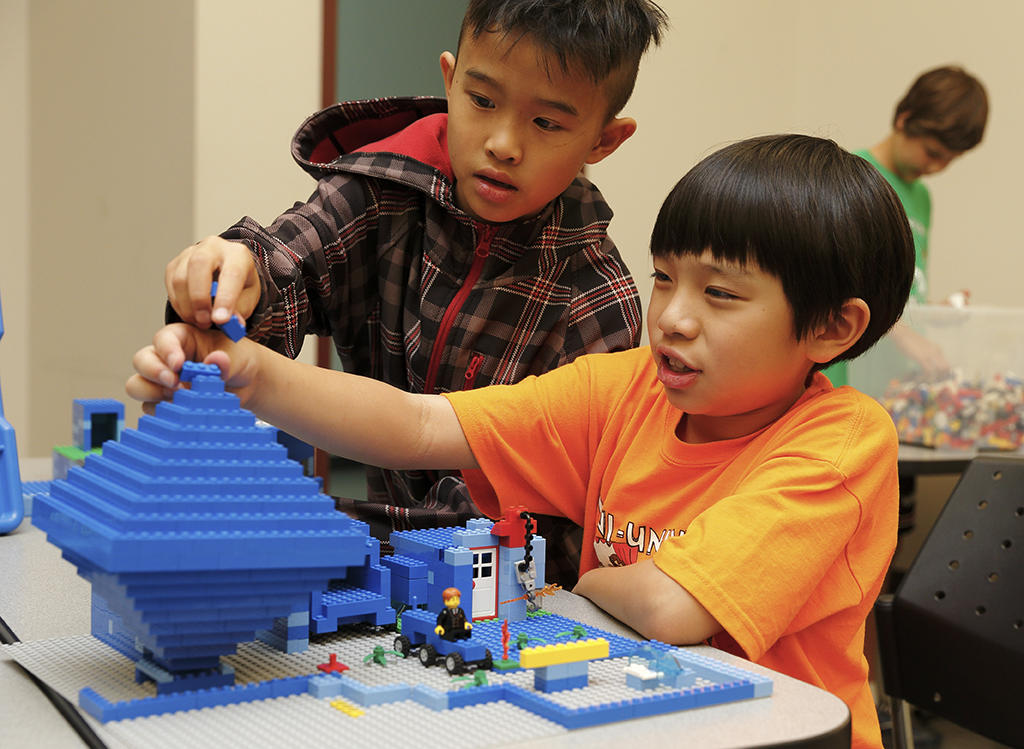 Lego brick builders event at UCalgary