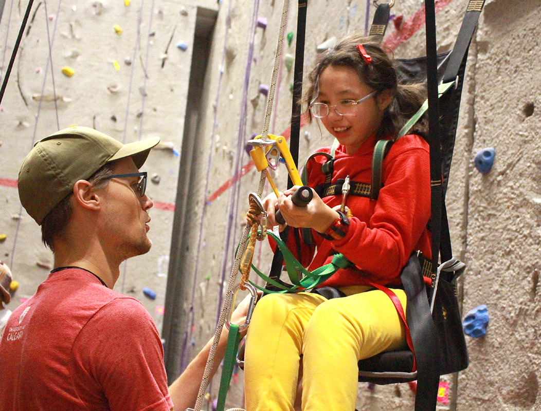 Adapted Climbing at University of Calgary