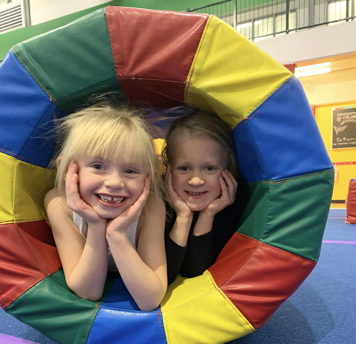 Girls having fun at UCalgary Gymnastics Cochrane