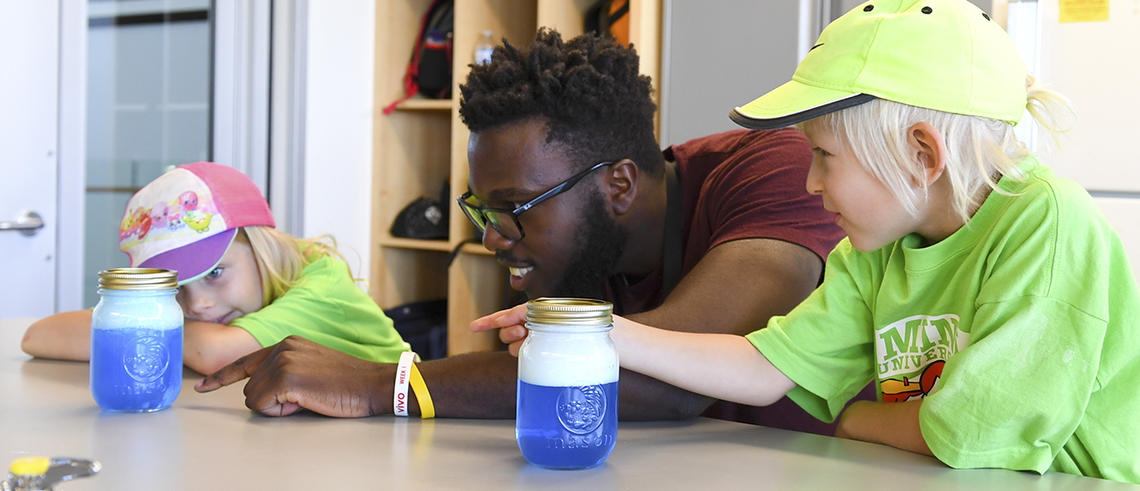 Science experiments for kids at UCalgary