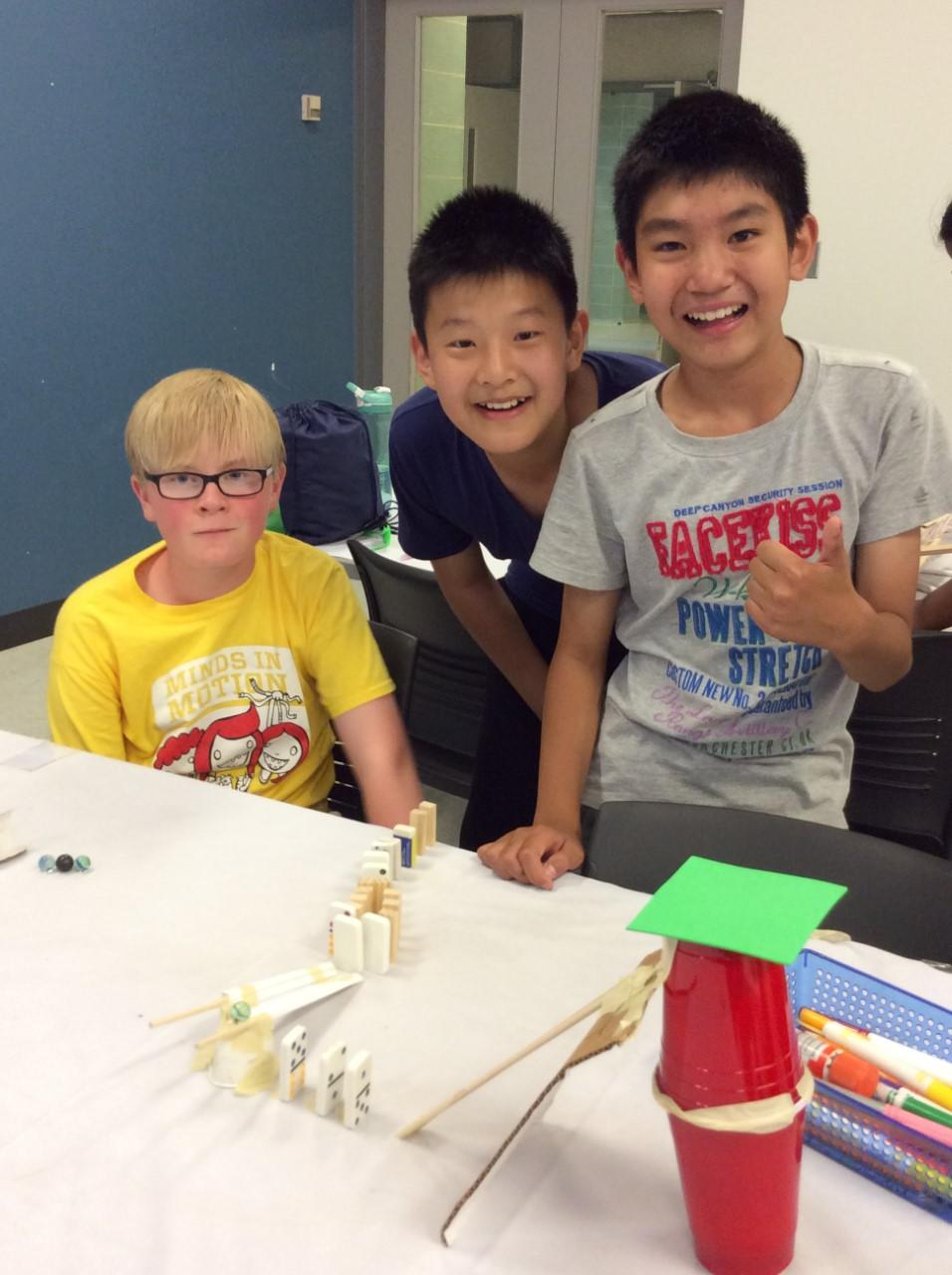Rube Goldberg Machine activity with UCalgary Minds in Motion