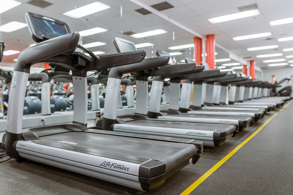 UCalgary Fitness Centre treadmills
