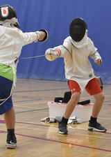 Kids fencing class at UCalgary