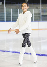 Figure skater in lessons at University of Calgary